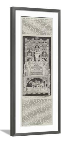 Memorial to Colonel J Donald Stewart, in St Patrick's Cathedral, Dublin--Framed Art Print