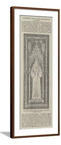 Monumental Brass to the Late Bishop of Gloucester, in Westminster Abbey--Framed Art Print