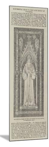 Monumental Brass to the Late Bishop of Gloucester, in Westminster Abbey--Mounted Giclee Print