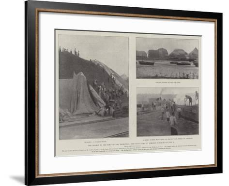 The Mishap to the Port of the Transvaal, the Great Fire at Lorenzo Marquez on 3 July--Framed Art Print