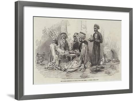 The Turkish Exhibition and Museum, Hyde-Park-Corner, a Turkish Dinner Party--Framed Art Print
