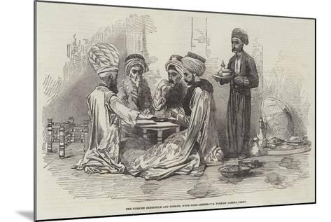 The Turkish Exhibition and Museum, Hyde-Park-Corner, a Turkish Dinner Party--Mounted Giclee Print