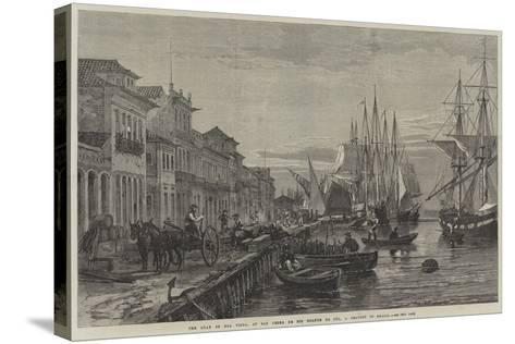 The Quay of Boa Vista, at San Pedro De Rio Grande Do Sul, a Seaport of Brazil--Stretched Canvas Print