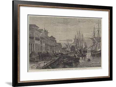 The Quay of Boa Vista, at San Pedro De Rio Grande Do Sul, a Seaport of Brazil--Framed Art Print