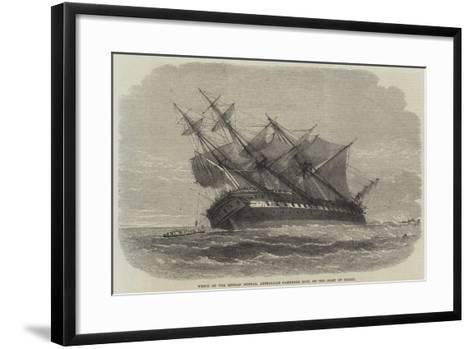 Wreck of the Duncan Dunbar, Australian Passenger Ship, on the Coast of Brazil--Framed Art Print