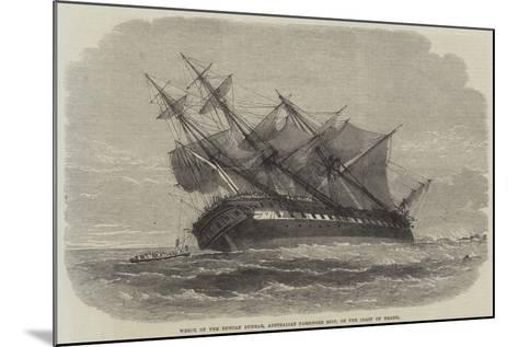 Wreck of the Duncan Dunbar, Australian Passenger Ship, on the Coast of Brazil--Mounted Giclee Print