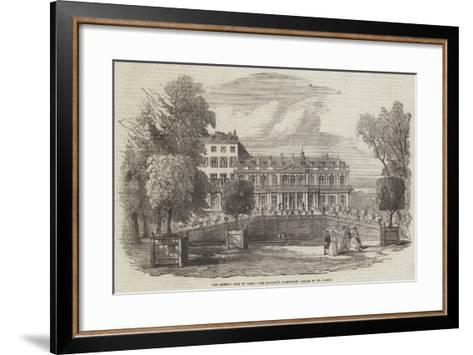 The Queen's Visit to Paris, Her Majesty's Apartments, Palace of St Cloud--Framed Art Print