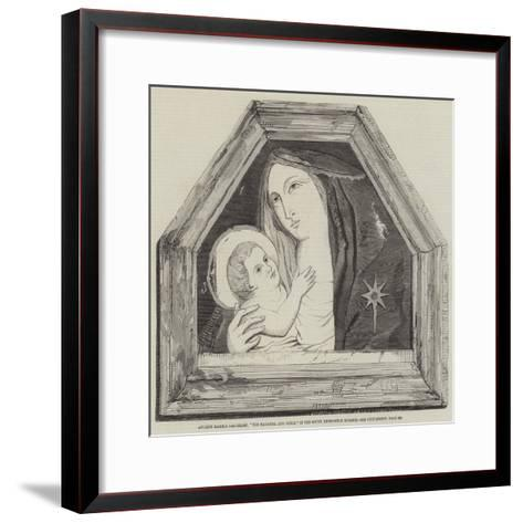 Ancient Marble Bas-Relief, The Madonna and Child, in the South Kensington Museum--Framed Art Print