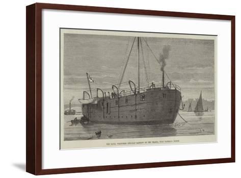 The Naval Volunteer Gun-Boat Rainbow on the Thames, Near Waterloo Bridge--Framed Art Print