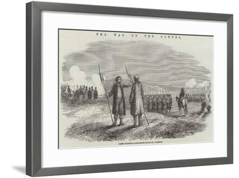 The War on the Danube, Armed Dervishes Accompanying Troops on a Skirmish--Framed Art Print