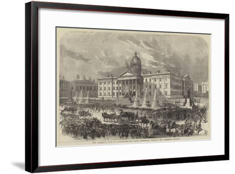 Her Majesty's Visit to Manchester, the Royal Procession Passing the Infirmary--Framed Art Print