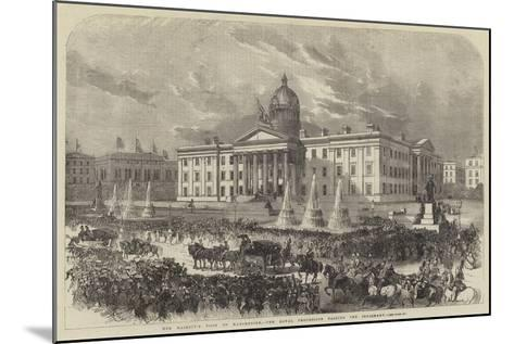 Her Majesty's Visit to Manchester, the Royal Procession Passing the Infirmary--Mounted Giclee Print