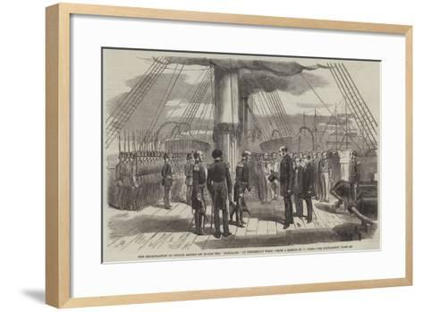 The Embarkation of Prince Alfred on Board the Euryalus on Wednesday Week--Framed Art Print
