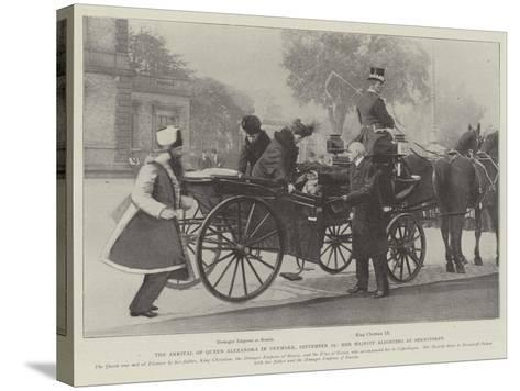 The Arrival of Queen Alexandra in Denmark, 19 September, Her Majesty Alighting at Bernstorff--Stretched Canvas Print