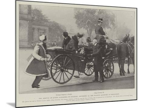 The Arrival of Queen Alexandra in Denmark, 19 September, Her Majesty Alighting at Bernstorff--Mounted Giclee Print