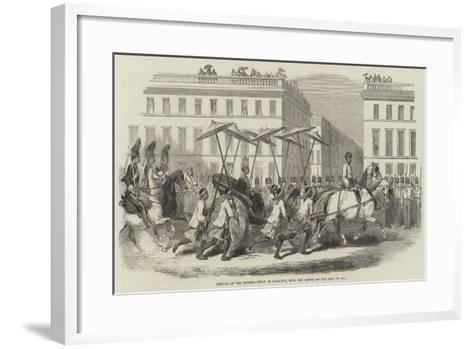 Arrival of the Birmese Envoy at Calcutta, with the Letter of the King of Ava--Framed Art Print