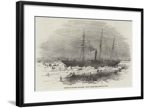 Navigation of the Elbe, the Steamer Pollux Cutting Through the Ice at Altona--Framed Art Print