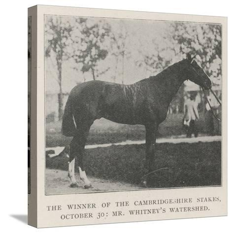 The Winner of the Cambridgeshire Stakes, 30 October, Mr Whitney's Watershed--Stretched Canvas Print
