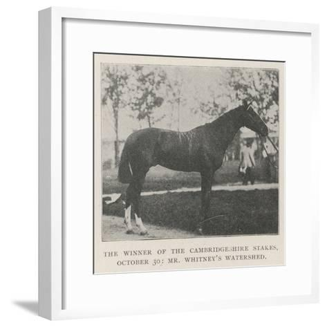 The Winner of the Cambridgeshire Stakes, 30 October, Mr Whitney's Watershed--Framed Art Print