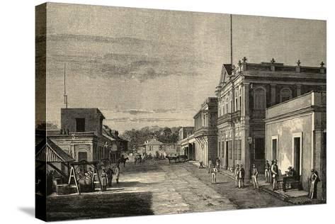Puerto Rico. Mayaquez City. by Traver La Ilustracion Espanola Y Americana, 1889--Stretched Canvas Print