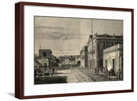 Puerto Rico. Mayaquez City. by Traver La Ilustracion Espanola Y Americana, 1889--Framed Art Print