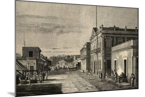 Puerto Rico. Mayaquez City. by Traver La Ilustracion Espanola Y Americana, 1889--Mounted Giclee Print