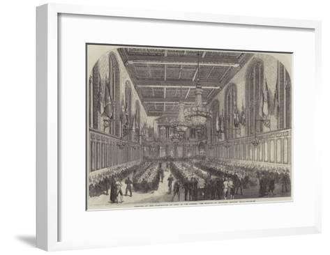 Festival of the Corporation of Sons of the Clergy, the Banquet in Merchant Taylors' Hall--Framed Art Print
