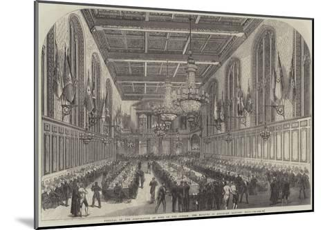 Festival of the Corporation of Sons of the Clergy, the Banquet in Merchant Taylors' Hall--Mounted Giclee Print