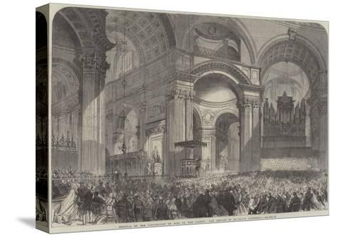 Festival of the Corporation of Sons of the Clergy, the Service in St Paul's Cathedral--Stretched Canvas Print