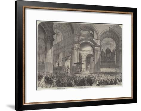 Festival of the Corporation of Sons of the Clergy, the Service in St Paul's Cathedral--Framed Art Print