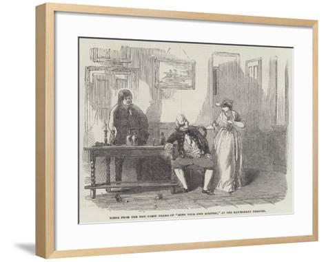 Scene from the New Comic Drama of Mind Your Own Business, at the Haymarket Theatre--Framed Art Print