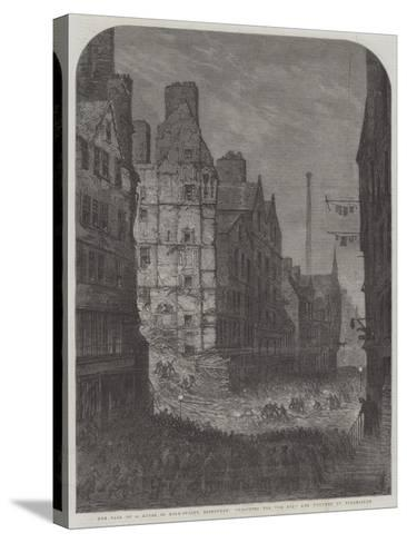 The Fall of a House in High-Street, Edinburgh, Searching for the Dead and Wounded by Torchlight--Stretched Canvas Print
