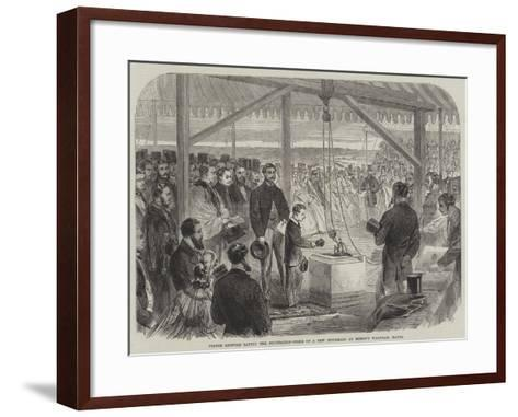 Prince Leopold Laying the Foundation-Stone of a New Infirmary at Bishop's Waltham, Hants--Framed Art Print