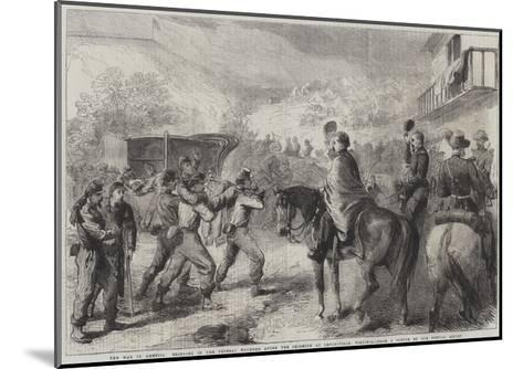 The War in America, Bringing in the Federal Wounded after the Skirmish at Lewinsville Virginia--Mounted Giclee Print