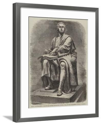Statue of the Late Lord Justice-General Boyle, by J Steell, Rsa, in the Parliament House, Edinburgh--Framed Art Print