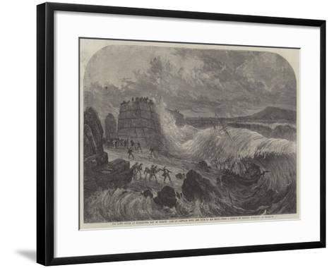 The Late Storm at Kingstown, Bay of Dublin, Loss of Captain Boyd and Five of His Crew--Framed Art Print