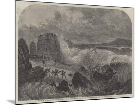The Late Storm at Kingstown, Bay of Dublin, Loss of Captain Boyd and Five of His Crew--Mounted Giclee Print
