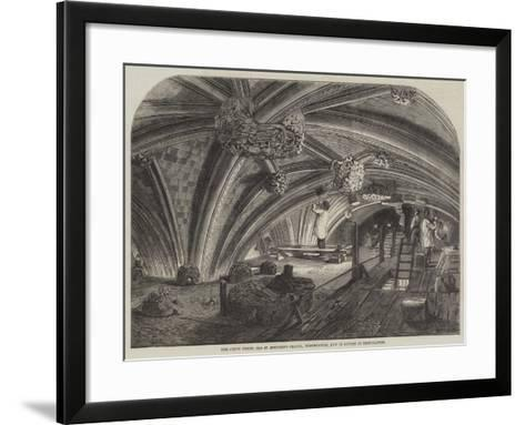 The Crypt under Old St Stephen's Chapel, Westminster, Now in Course of Restoration--Framed Art Print