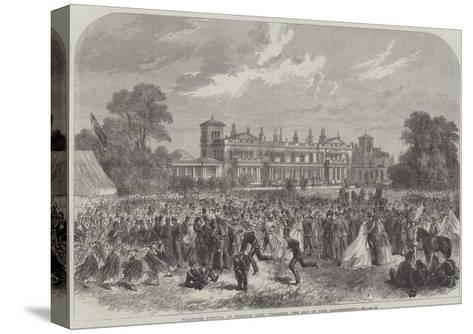 Volunteer Festival at Grimston Park, Yorkshire, the Seat of Lord Londesborough--Stretched Canvas Print