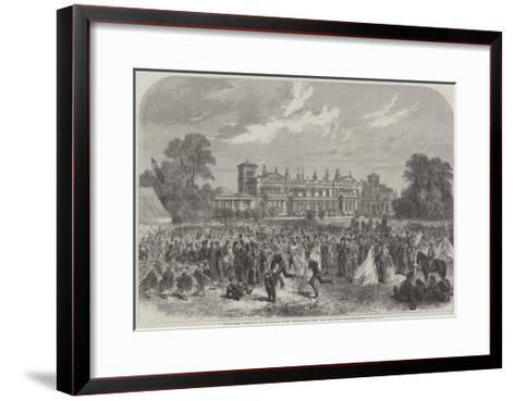 Volunteer Festival at Grimston Park, Yorkshire, the Seat of Lord Londesborough--Framed Art Print