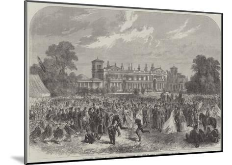 Volunteer Festival at Grimston Park, Yorkshire, the Seat of Lord Londesborough--Mounted Giclee Print