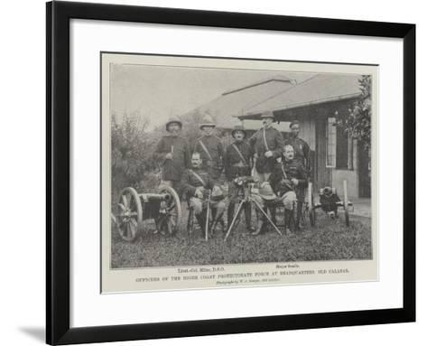 Officers of the Niger Coast Protectorate Force at Headquarters, Old Calabar--Framed Art Print