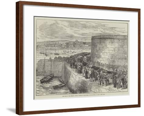 The Wreck of the Schiller, Funeral Procession at the Burial of the Drowned, St Mary'S, Scilly Isles--Framed Art Print