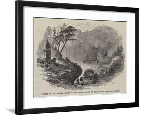 Source of the Ganges, Scene of the Early Labours of the Baptist Missionary Society--Framed Art Print