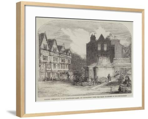 Boring Operation, Near Gray'S-Inn-Lane, in Connection with the Main Drainage of the Metropolis--Framed Art Print