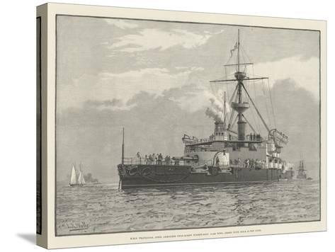 HMS Trafalgar, Steel Armoured Twin-Screw Turret-Ship, 11,940 Tons, Armed with Four 67-Ton Guns--Stretched Canvas Print