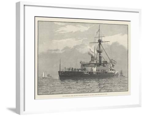 HMS Trafalgar, Steel Armoured Twin-Screw Turret-Ship, 11,940 Tons, Armed with Four 67-Ton Guns--Framed Art Print