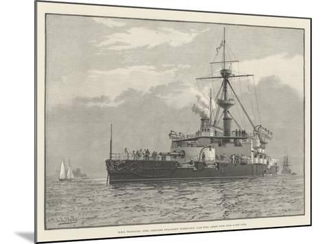 HMS Trafalgar, Steel Armoured Twin-Screw Turret-Ship, 11,940 Tons, Armed with Four 67-Ton Guns--Mounted Giclee Print