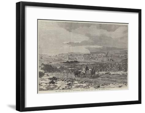 The Great Salt Lake City of the Mormons, Looking West, the Salt Lake in the Distance--Framed Art Print