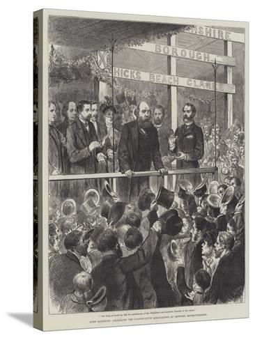 Lord Salisbury Addressing the Conservative Associations at Newport, Monmouthshire--Stretched Canvas Print